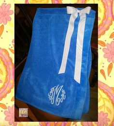 Monogrammed Spa Towel Wrap on Etsy, $24.50