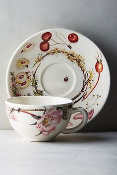 Gien Bouquet Cup & Saucer