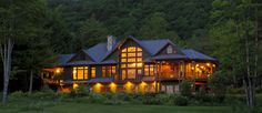 Stowe Meadows Lodge in Stowe, VT.  A romantic and luxurious couples retreat  offers 4 private guest suites with mountain views, 2 guest dens, both with fireplaces and cozy sitting areas.  Or, relax outside on a balcony or covered deck and watch the sunset.  Join us for a romantic and luxurious weekend away in Stowe, VT.  #stowevt #romantic #bedandbreakfast www.stowemeadows.com 802-888-0002
