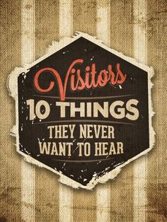 Wondering how to welcome visitors to your church? Well, there are 10 things church visitors never want to hear, so why not help our church folks learn NOT to say them? Church Foyer, My Church, Kids Church, Church Ideas, Church Ministry, Ministry Ideas, Youth Ministry, Ministry Leadership, Church Welcome Center