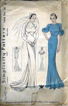 Novia años 40 - vestido lánguido de crepe
