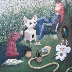 """Elixir of Invisibility""  #shelestart #popsurrealism #painting #lowbrow #lowbrowart #acrylicpainting"
