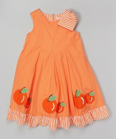 Look at this Donita Orange Apple A-Line Dress - Infant, Toddler & Girls on #zulily today!