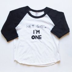 Hey Girl, I'm One! Raglan Tee from Stripes Boutique for $20.00 on Square Market