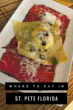 Find out where to eat in St. Pete, Florida with this foodie guide! It has 30 recommendations for the best St. Petersburg restaurants #florida #stpeteflorida #tampabay Florida Food, Florida Vacation, Florida Travel, Slice Pizzeria, Grillin And Chillin, Delicious Restaurant, Girl Blog, Lunches And Dinners, Vacation Destinations