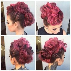 30 Superbly-Stylish Faux Hawk Hairstyles That Speaks of Class and are Outright Modish Faux Hawk Hairstyles, Up Hairstyles, Pretty Hairstyles, Braided Hairstyles, Wedding Hairstyles, Hair Addiction, Crazy Hair, Hair Dos, Hair Designs