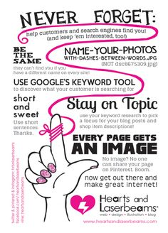 Free Printables: Craftcation Conference Edition! SEO tips for writing blog posts that are search engine friendly | http://www.heartsandlaserbeams.com