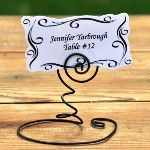 rustic style place card holder