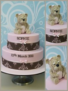 http://inspiredbymichelleblog.com/2011/03/29/christening-cake-pink-and-brown-design/
