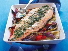 Hel laxsida i ugn Swedish Recipes, English Food, Fish And Seafood, Nom Nom, Pork, Food And Drink, Turkey, Cooking Recipes, Snacks