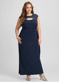 7d7c6dae2d43a Empire Scoop Neck Ankle-Length Chiffon Evening Dress With Beading Chiffon Evening  Dresses
