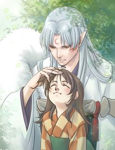 Rin And Sesshomaru, Inuyasha And Sesshomaru, Anime Manga, Anime Art, Neko Kawaii, Ocarina Of Times, Disney Home Decor, Do It Yourself Home, Pokemon Cards