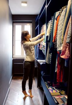 closet - looks like Ikea's PAX system