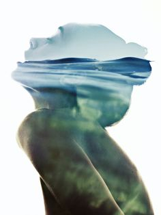 Under the waves by Aneta Ivanova, via Behance