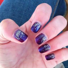My nails- added loose silver glitter