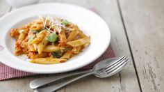 BBC Food - Recipes - Penne with spicy tomato and mozzarella sauce