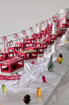 miss red fox - Seilbahn Wertmarken Adventskalender - Gondeln - Funicular Advent Calendar - Nacelles