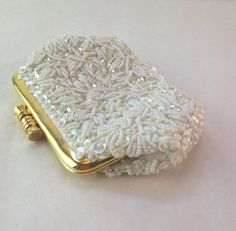 Exquisite 1950s Pearl Bead and Sequin Change Purse. by casalupe, $42.00