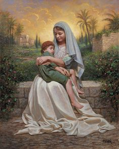 Child of Mine...we always see Mary with a baby, love this different take on it...