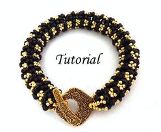 Twin Seed Bead Patterns | Tutorial Ladies Bangle Bracelet with Twin seed beads by Ellad2