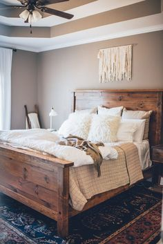 Nice 50+ Rustic Master Bedroom Ideas #bedroomdesign