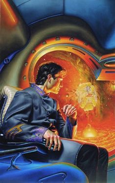 Donato Giancola - Cover art for Siduri's Net: The Cloudships of Orion by P. K. McAllister, 1994