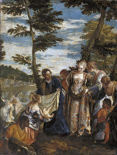 Moïse sauvé des eaux 1575-80