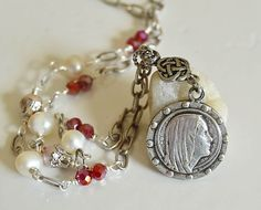Religious Jewelry - Catholic Necklace, Religious Catholic Jewelry, Marian Jewelry, Our Lady of Lourdes Necklace, Virgin Mary Necklace