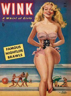 Peter Driben, cover art...Wink, 1950