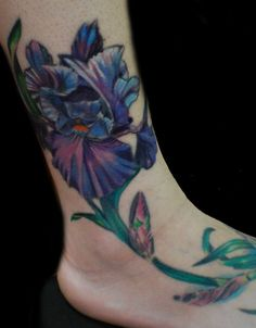 Love these colors----Foot flower Tattoo - 60  Ankle Tattoos for Women  <3 !