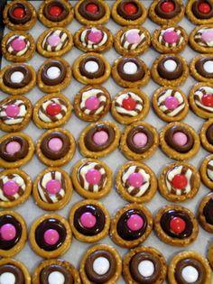 Chocolate Pretzel Buttons.