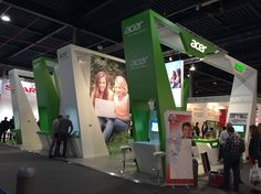 The use of lines and levels help this booth stand out on the exhibition floor.