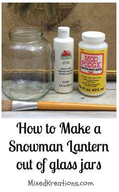 Diy Snowman Lantern