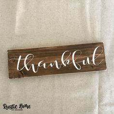 Thankful Sign | Thanksgiving Decor | Fall Harvest Decor | Rustic Wood Sign | Modern Farmhouse Sign
