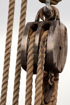 The invention of the block and tackle gave man a mechanical leverage to move and manipulate heavy or over sized cargo and stone to build large structures or move items not possible before.