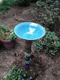 Garden Bird Bath by SuePatrickPottery on Etsy