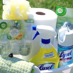 Spring Clean those Windows and a Spring Cleaning Basket Idea! #SpringIntoClean #Ad