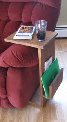 Coffee Table TV Tray Table Lap Top Desk Plant por BearPondWoodworks