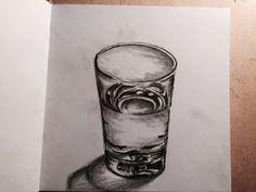 Drow, drowing, deepdrow, art, artist, artmood, artlife, drowlife, glass of water