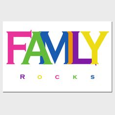 Family Rocks  11 x 17 Inch Deluxe Inspirational Print  by Tessyla, $28.00
