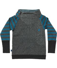 Albababy cool grey sweat with striped sleeves. albababy.en.emilea.be