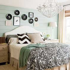 Create Whimsical Flair    Color can add cottage charm and set a laid-back vibe that's perfect for beach or lake houses. This refreshing hue transformed a once rustic space, keeping the room fresh and light.    Paint: Wythe Blue (HC-143) by Benjamin Moore; benjaminmoore.com.