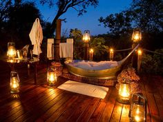 Find out the best underrated honeymoon destinations: : Botswana. Find out the best underrated honeymoon destinations: Romantic Backyard, Romantic Home Decor, Romantic Homes, Romantic Camping, Romantic Bathrooms, Outdoor Bathrooms, Romantic Bathtubs, Hotel Bathrooms, Outdoor Bathtub