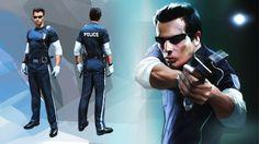 Mirror's Edge Concept art (Policeman, Sci Fi).