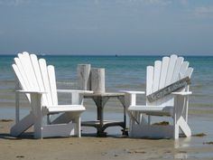 Cape Cod Adirondack Chairs, love these! source