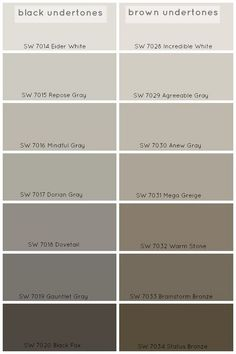 Choosing Grey paint Colors: Grey Paint Colors with Black Undertones