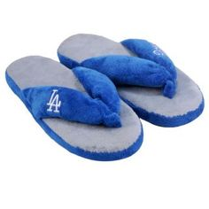 Los Angeles Dodgers Womens Flip Flop Thong Slippers