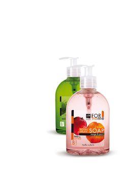 Υγρό σαπούνι με άρωμα ροδάκινο και μάνγκο   που ενυδατώνει και μαλακώνει το δέρμα.