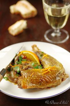 Delicious Guinea fowl (or chicken) with orange and porcini. Guinea Fowl Recipes, Cold Dishes, Xmas Food, Food Festival, Casserole Dishes, Japchae, Great Recipes, Curry, Chicken
