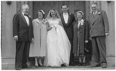 Grandma and grandpa Passon wedding day.